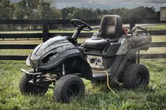RAVEN MPV It's at once a riding lawnmower, a gasoline generator, and an all-terrain vehicle. Equipped with a 46-inch mowing deck, capable of mowing speeds up to six miles per hour, and with a 14-inch turning radius, it'll make quick work of your lawn. Easily remove the mowing deck and it transforms into a vehicle capable of pulling up to 550 pounds and speeds up to 17 miles per hour. And for when you need to use corded tools, just fire up the 7100 watt generator and get to work.