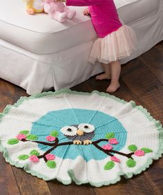 Whoo's My Cutie Blanket ~ What a wise idea! This special blanket features a whimsical owl perched on a tree branch. Crochet it for a cutie in your life!