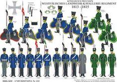プレート253:プロイセン王国:1813から1815へWestfalian Landwehr騎兵連隊
