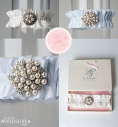 La Gartier Wedding Garters on Wedluxe.com!!
