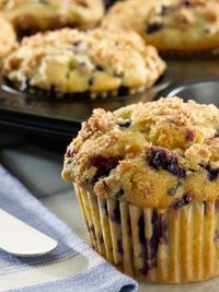 Old Fashioned Wild Blueberry Muffins    Only 144 Calories!   Sweet & Satisfying   Made with @wildbberries  client