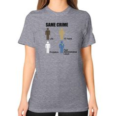 Same Crime Unisex T-Shirt (on woman)