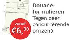 Voorbeeld van een advertentie van douaneformulieren.
