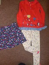 * Girls 4-5 years JO JO MAMAN BEBE hedgehog skirt & TU hedgehog top leggings *