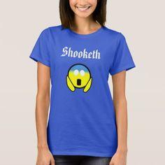Custom Color Funny Shooketh OMG Emoji Blue Shirt - cyo diy customize unique design gift idea perfect
