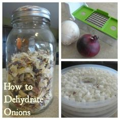 How to dehydrate extra onions for cooking and food storage.