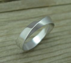 Mobius Wedding Band With Matte Texture 4.5mm Mobius by Benati