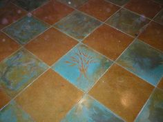 How to carve & stain old concrete