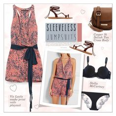 """""""All-in-One: Sleeveless Jumpsuits"""" by alves-nogueira ❤ liked on Polyvore featuring ViX, K. Jacques, Cooper St and STELLA McCARTNEY"""