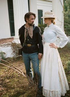 Nicole Kidman and Colin Farrell on the set of The Beguiled, photographed by Sofia Coppola