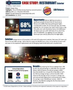 The Parking Pole Replacement Solution For Burger King From Independence Led Saves 311 Watts Per Fixture A Savings Lighting