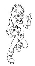 Free Digimon coloring pages