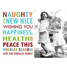photo christmas card holiday photo card naughty or nice 1500 via etsy - Naughty Or Nice Christmas Card