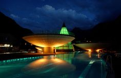 aqua dome thermal resort in the mountains of austria