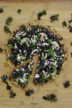 Wild herb pizza with goutweed and nettle oil Finland, Pizza, Herbs, Oil, Herb, Butter, Medicinal Plants