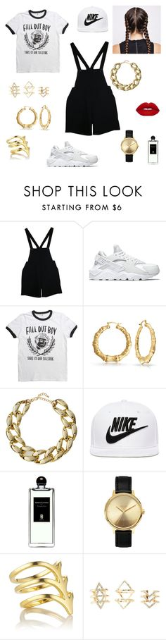 """""""Fav Tee"""" by getdressedbyjess ❤ liked on Polyvore featuring American Apparel, NIKE, Bling Jewelry, Kenneth Jay Lane, Serge Lutens, Nixon, Smith/Grey and Charlotte Russe"""