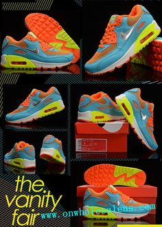 new concept 8eaf0 11ab0 2014 cheap nike air max 90 Women s Blue Orange for sale  39 size us5.5-us8.5