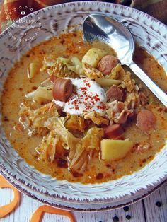 Frankfurti leves Hungarian Cuisine, Hungarian Recipes, Soup Recipes, Cooking Recipes, Tasty, Yummy Food, One Pot Meals, Soups And Stews, Thai Red Curry