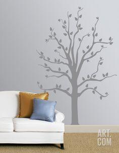 Grey Tree Wall Decal at Art.com