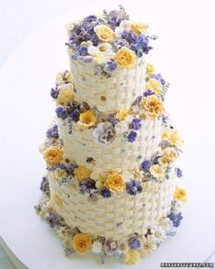 """See the """"Crystallized Buds"""" in our Sugar-Flower Wedding Cakes gallery"""