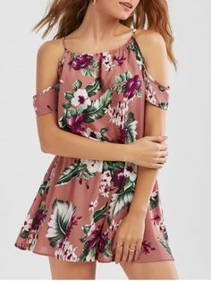GET $50 NOW | Join RoseGal: Get YOUR $50 NOW!http://www.rosegal.com/jumpsuits-rompers/dew-shoulder-tropical-leaf-pattern-1178047.html?seid=9811025rg1178047