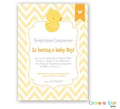 Rubber Ducky Duck Custom Baby Shower invitation by ceremoniaGlam, $9.50