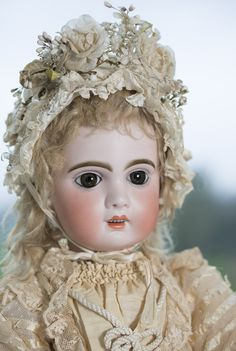 """27"""" (69 cm) Very Beautiful French Bisque Bebe by Emile jumeau,Size 12 with wonderful costume!"""