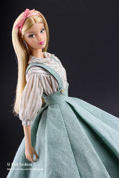 Straps-Rock mit Shirt für Barbie und Mohn Parker von von Sanglian