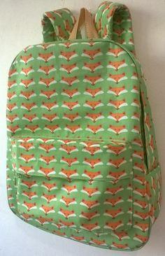 0ef7eacfc mochila de raposas, em algodão, forrada, estruturada, resistente, cabe  livros e