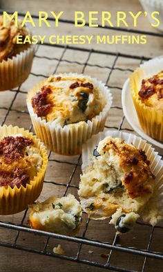 Cheese and olives make this muffin a savoury-lover's dream come true. Perfect for a packed lunch or warm with a bowl of soup. Savory Muffins, Cheese Muffins, Mary Berry Cooks, British Bake Off Recipes, Fairy Cakes, Savoury Dishes, Muffin Recipes, Sweet Bread, No Bake Desserts