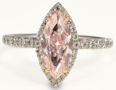 Forevermark Fancy Pink Marquise Diamond Ring Center of my universe Collection on my wish list for Christmas 2013