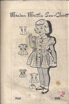 Vintage 70s TODDLER Sewing Pattern  Side-Tie DRESS by HoneymoonBus, $11.99