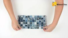 Glass Mosaic Tile Artwork Teal 1x1-120AVEDEWDWBDD11CB