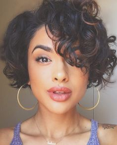 The best collection of Great Curly Pixie Hair, Pixie cuts, Latest and short curly pixie haircuts, Curly pixie cuts pixie hair Curly Pixie Hairstyles, Short Curly Pixie, Pixie Cut With Bangs, Haircuts For Curly Hair, Short Pixie Haircuts, Curly Hair Cuts, Curly Hair Styles, Undercut Pixie, Natural Hairstyles