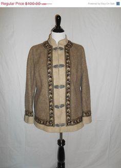 Vintage Clothing Online Vintage FJORD Wool by ATELIERVINTAGESHOP