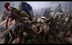 Dacian Noble Warriors attack Roman Cavalrymen c. AD 101.
