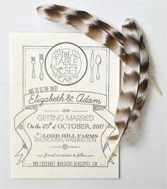 Lovely #wedding card