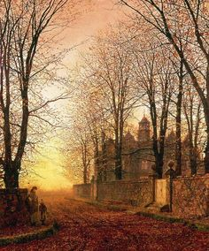 """In the Golden Olden Time"" : #JohnAtkinsonGrimshaw c1870"