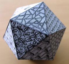 Zentangled Icosahedron