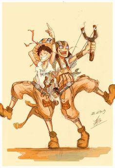 Read Usopp y Luffy from the story Imágenes y Memes de ONE PIECE by DreamerRollingGirl (Lxw-yx~) with reads. One Piece Manga, One Piece Drawing, One Piece Comic, One Piece Fanart, One Piece Ship, One Piece Luffy, Nico Robin, Zoro, Manga Art