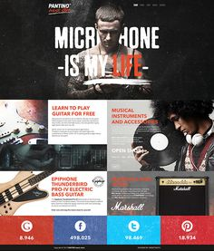 PANTINO - music store by SnowTiger , via Behance