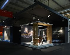 GRAFF's newest booth design at the International Bathroom Exhibition in Milan, Italy