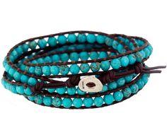 Tutorial: Chan Luu Turquoise Wrap Bracelet - buatkalunggelang  http://buatkalunggelang.blogspot.com/2010/09/tutorial-chan-luu-turquoise-wrap.html