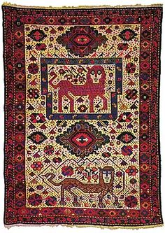 THE IRANIAN; Arts, Culture, History, Persian Rugs/Carpets, Shirvan, late 19th century (148 x 106 cm)Lion
