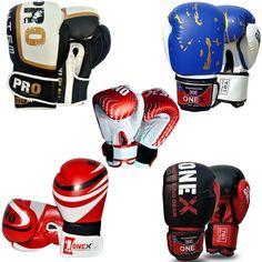 ONEX Gel 6oz Boxing Gloves Bag Womens Gym Kick Pads MMA Mitts Muay Thai