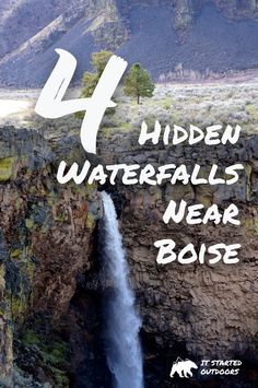 Four Hidden Waterfalls Near Boise Idaho | Box Canyon State Park | The Devil's Washbowl at Malad Gorge State Park | Danskin Mountains Waterfalls | Waterfall in Eagle Canyon | Idaho Waterfalls | Idaho Hiking | Idaho Trail Guides | Hiking Guides | 4 Reasons to explore Idaho | It Started Outdoors