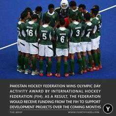 Pakistan Hockey Federation wins Olympic Day Activity Award by International Hockey Federation