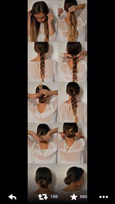 twist up braid bun