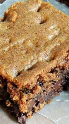 Chocolate Chip & English Toffee Cookie Bars
