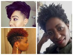 A post talking about the tapered hair cut on natural hair with two options for styling
